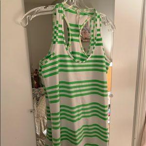 Lulu Lemon Designer Size 12 Green Tank. Like New